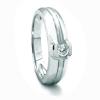 Solitario de oro blanco (18K) con diamante