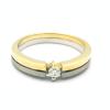 Solitario de oro blanco y oro amarillo (18K) con diamante