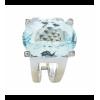 Sortija de oro blanco (18K) con diamante y agua marina natural