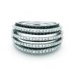 Sortija de oro blanco (18K) con diamante