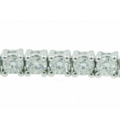 Pulsera de oro blanco (18K) con diamante