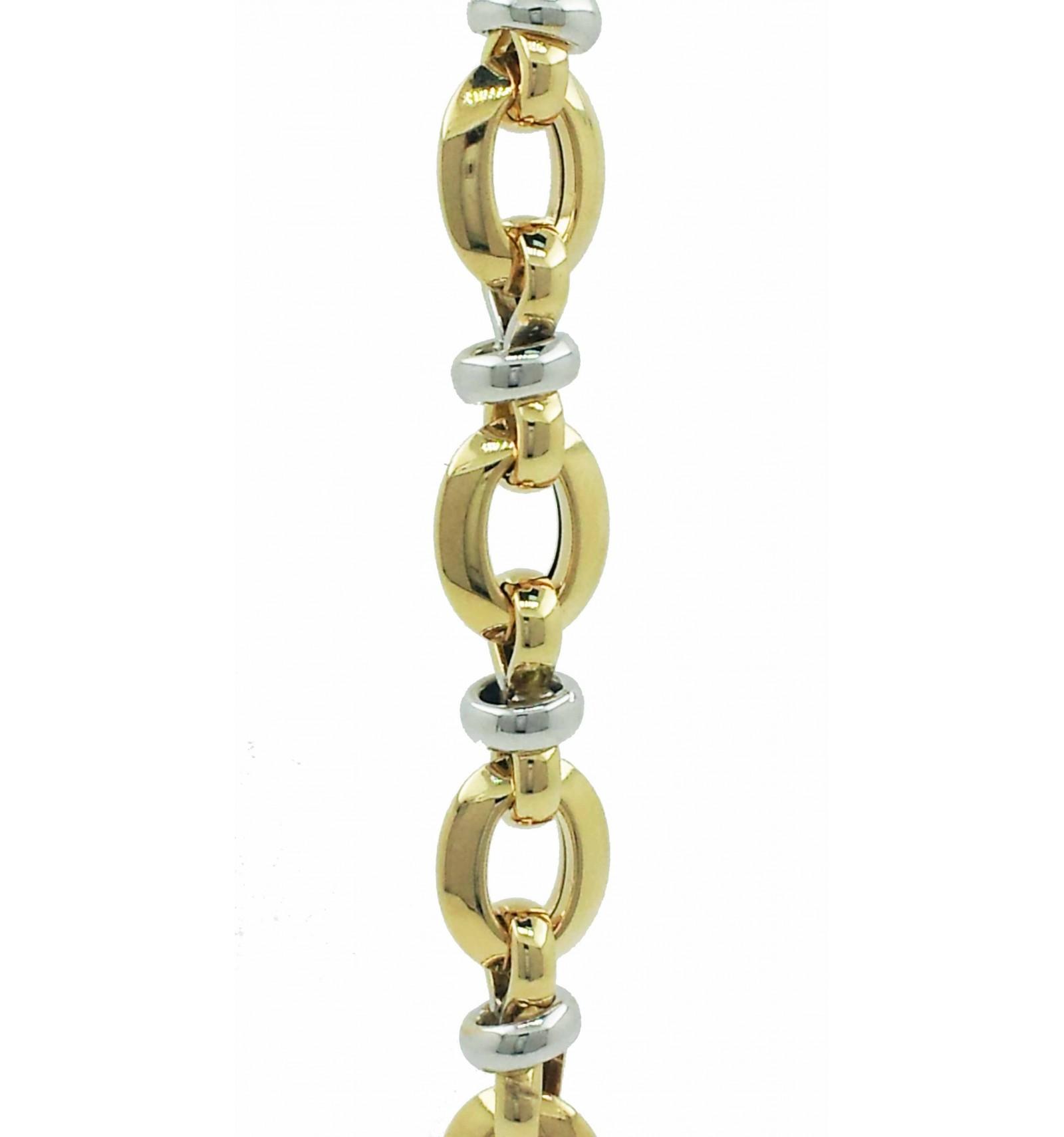 5d810d683e1c Pulsera de oro blanco y oro amarillo (18K) - Lopez Joyeros