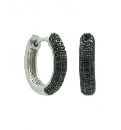 Criollas de plata con zirconita negra