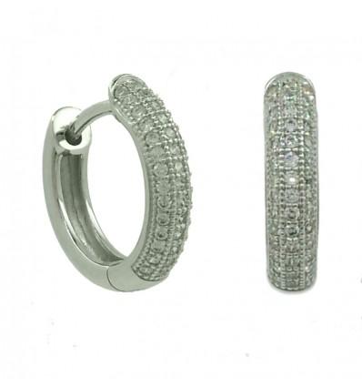 Criollas de plata con zirconita