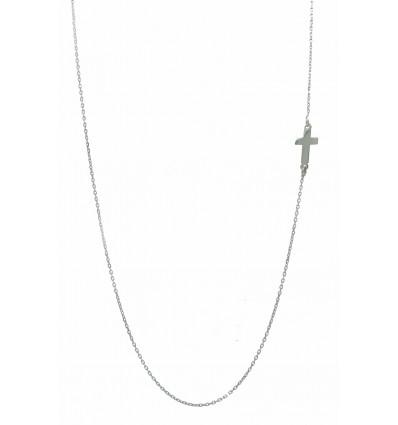 Colgante de oro blanco (18K) con cadena