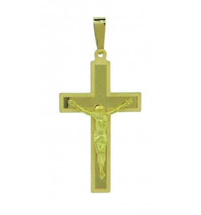 Cruz de oro amarillo (18K)