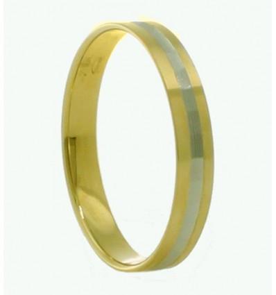 Alianza de oro blanco y oro amarillo (18K)