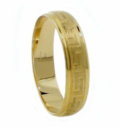 Alianza de oro amarillo (18K)