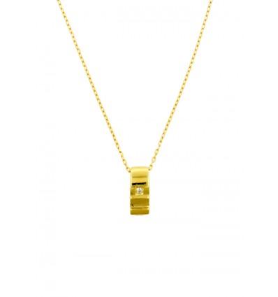 Colgante de oro amarillo (18K) con diamante