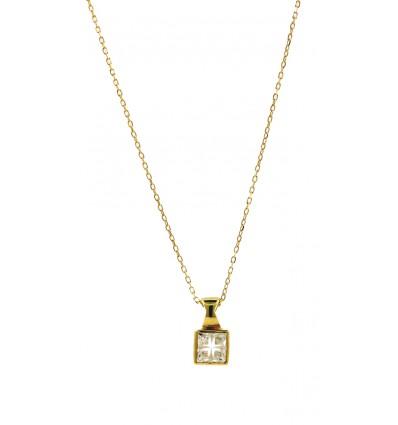 Colgante de oro amarillo (18K) con zirconita