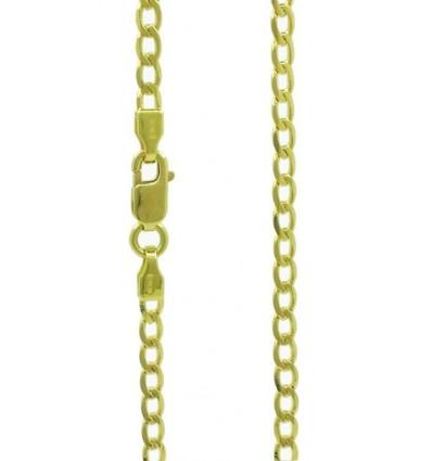 Cadena de oro amarillo (18) modelo barbada