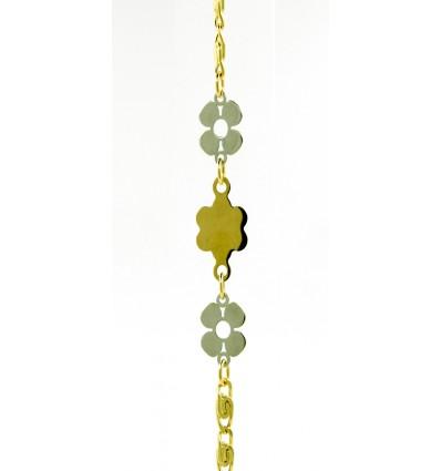 Pulsera de oro amarillo y oro blanco (18K)