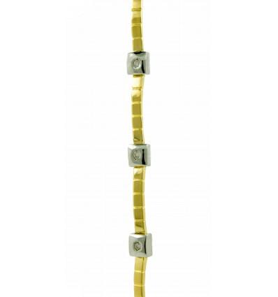 Pulsera de oro blanco y oro amarillo (18K) con diamantes