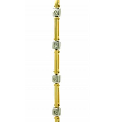 Pulsera de oro blanco y oro amarilo (18K) con diamantes