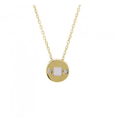 Colgante de oro amarillo (18K) con nácar