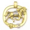 Colgante de oro blanco y oro amarillo (18K) con zirconitas