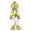 Colgante de oro amarillo y oro blanco (18K) con piedras