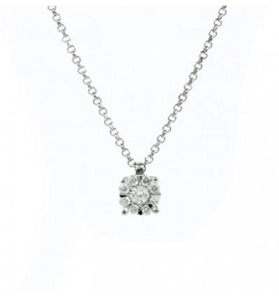 Colgante de diamantes con cadena