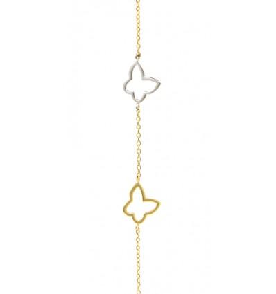 Pulsera de oro blanco y oro amarillo (18K)