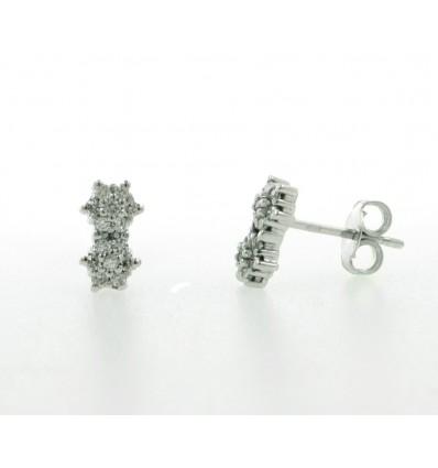 Pendientes de oro blanco (18K) con diamante