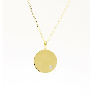 Colgante y cadena oro 18K