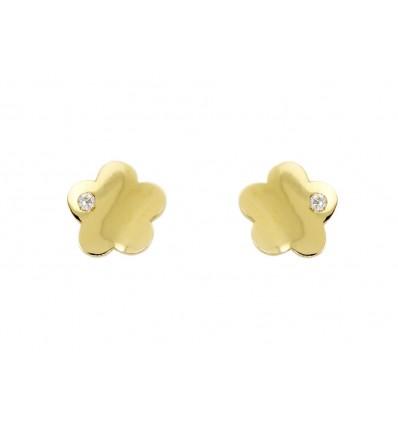 Pendientes de oro amarillo de 18K con circonitas